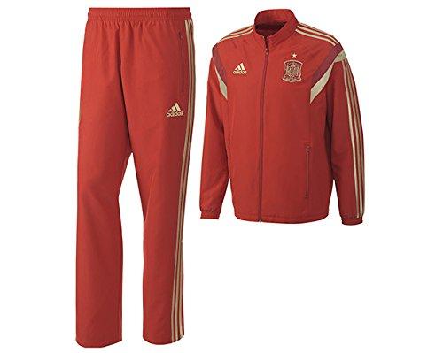 adidas Spanien Sport Freizeit Anzug rot FEF Presentation Suit Fanartikel Weltmeisterschaft 2018, Größe:M