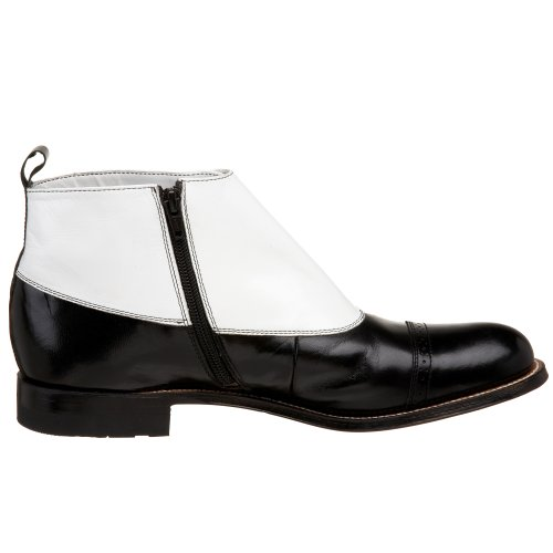 Stacy Adams Madison Boot Cuir Bottine Blk-White