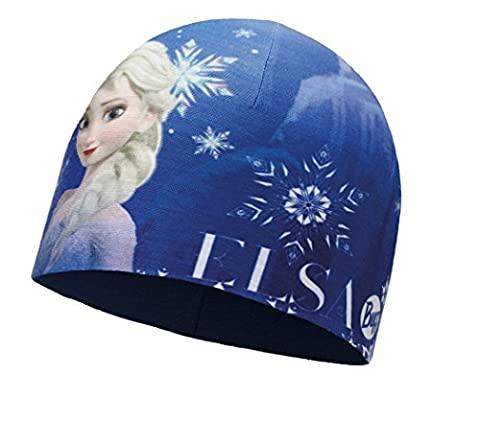 BUFF® SET - CHILD MICROFIBER POLAR HAT Licenses Bonnet Enfants + UP® UltraPower Tissu tubulaire | Disney | Cars | Elsa | Mickey Mouse | Hello Kitty | Fonctionnel | Polar Fleece | Caps | Hiver, alle Buff Designs 2016:400. ELSA BLUE