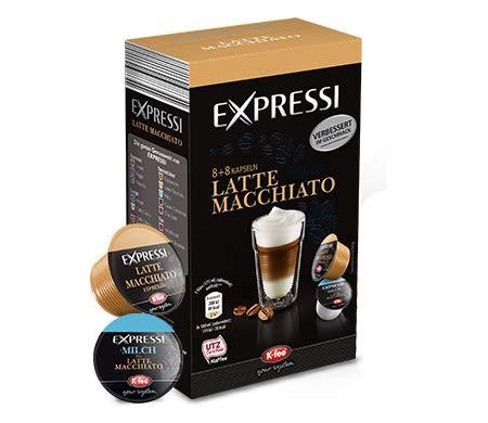 K-Fee Lounge Expressi Latte Macchiato Kaffeekapseln, 48+48 Kapseln, kompatibel mit Teekanne Lounge Kaffee- und Teemaschine