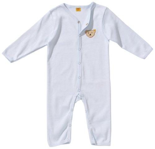 Steiff Unisex - Baby Strampler/Schlafanzug, gestreift 0006631, Gr. 68, Blau (3023)