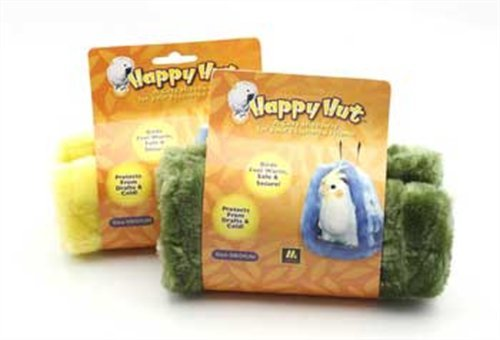 Multipet Happy Hut Plush Cage Hut for Birds, Size Large, Assorted colors 1