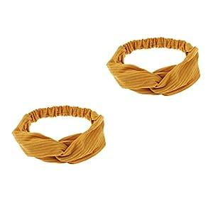 chiwanji Ladies Twist Knot Pattern Gestricktes Stirnband Elastisches Kopfwickel Turban Haarband