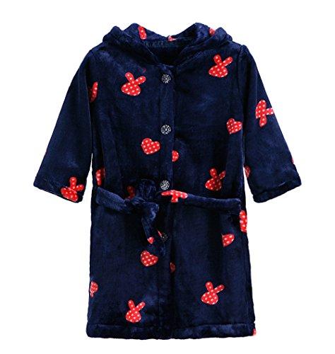 nder-Bademantel Jungen Mädchen Kapuzen-Morgenmantel Flanell-Pyjama Unisex-Baby Nachtwäsche Nachthemd Größe 110 Marine-Blau (28 Japanische Halloween-kostüme)