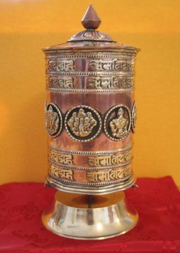 Grosse Tibetische Gebetsmühle mit Ständer - Tibetische Gebetsmühle