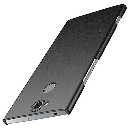 anccer Sony Xperia XA2 Plus Hülle, [Serie Matte] Elastische Schockabsorption und Ultra Thin Design für Sony XA2 Plus (Nicht für Sony XA2) (Kies Schwarz)