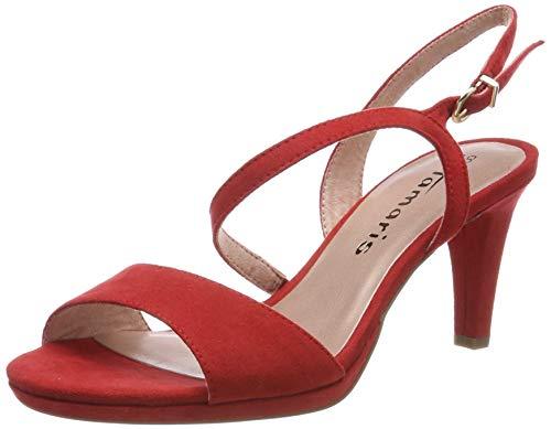 Tamaris 1-1-28318-22, Sandalias de Talón Abierto para Mujer, Rojo Chili 533, 39 EU