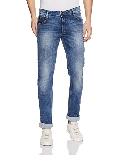 John Players Men's Skinny Fit Jeans (ZCMWJNA170012004_Indigo_34W x 34L)