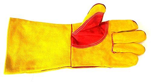 AES s.1392Premium Gold Schweißen Handschuh mit verstärkter Innenhand