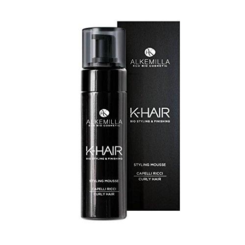 ALKEMILLA - Styling Mousse pour les Cheveux Bouclés Hair K - Volume, Effet Soft & Natural - Boucles durables - Vegan & Nickel Testé - 150 ml
