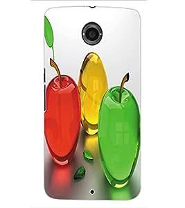 ColourCraft Colourful Fruits Design Back Case Cover for MOTOROLA GOOGLE NEXUS 6