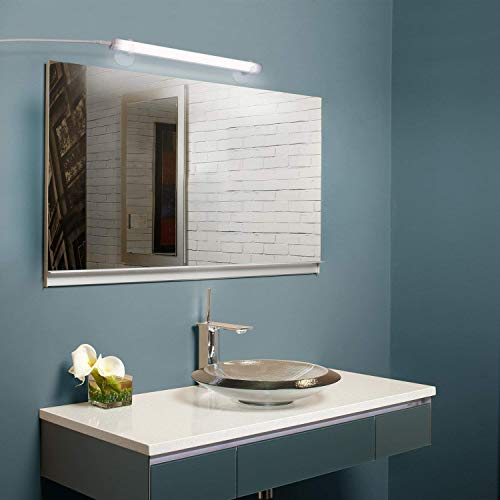 Albrillo 6W 350lm LED Spiegellampe zum Schminken Make up Licht aus 30 SMD2835 LEDs mit Saugnapf und 1.6m USB-Kabel, 5500k Tageslicht und 120°Abstrahlwinkel