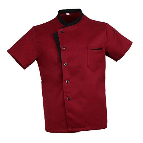 Baoblaze cuoco camicia manica corta da cucina per uomo donna - rosso, m
