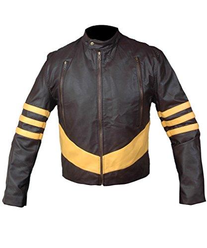 0fbb6d9977c F H Men s X-Men Origins Wolverine Genuine Leather Jacket 2XL Brown