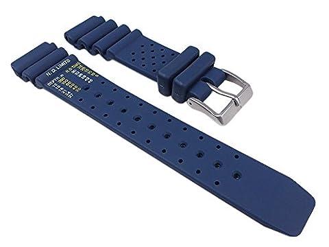 Citizen Marken Ersatzband Uhrenarmband Kautschuk Dunkelblau 20mm für Promaster Diver NY0040-17LE