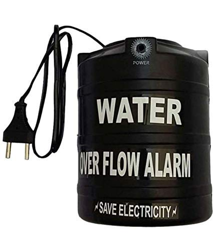 Celebrave Water Tank Overflow Alarm with Voice Sound, Normal Size, Black
