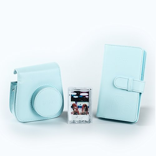 Fujifilm 70100138067 Kit Accessori per Fotocamera Instax Mini 9 Ice Blu