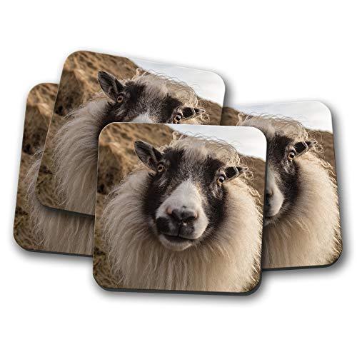 4er-Set - lustiges isländisches Schaf, Untersetzer - Lamm Funky Animal Mum niedliches Geschenk #16256 Funky Animal