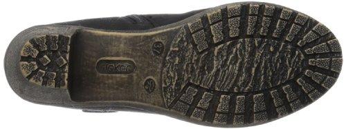 Rieker 91581-00, Boots femme Noir (Schwarz/00)