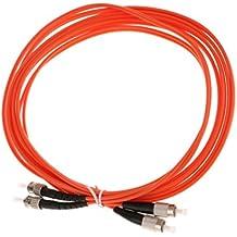 Gazechimp FC a ST Cable de Puente de Fibra óptica Chaqueta Dúplex Multimodo Conectores Naranja - naranja-3m