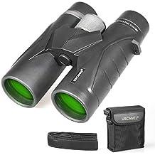 Binoculares 10x42 para Adultos, prismáticos Profesionales HD compactos para observación de Aves, Viajes,