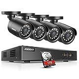 Annke 8CH H.264+ HD 1080P Lite Surveillance DVR w/ 4x 1.30 Megapixels 960P