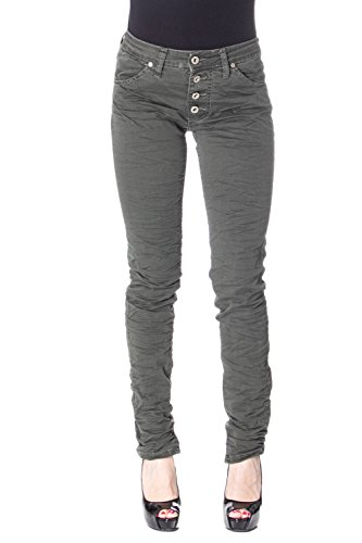 Please Frauen Jeans Skinny SCHLANK P90 s dunkelgrün