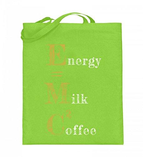 Hochwertiger Jutebeutel (mit langen Henkeln) - ENERGY=MILK COFFEE² Limette