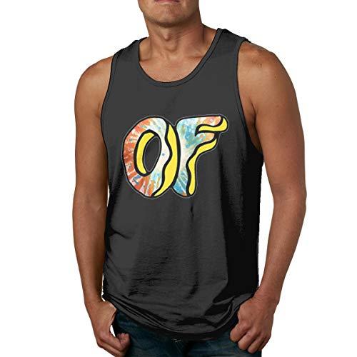Abigails Home Odd-F Herren Tank Top Ärmellose Shirts T-Shirt Basketball Sport T-Shirt T-Shirts Outdoor Fitness(M,Schwarz) -