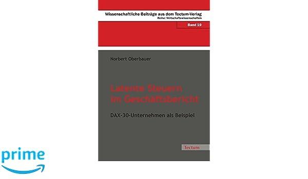 Latente Steuern im Geschäftsbericht: DAX-30-Unternehmen als Beispiel ...