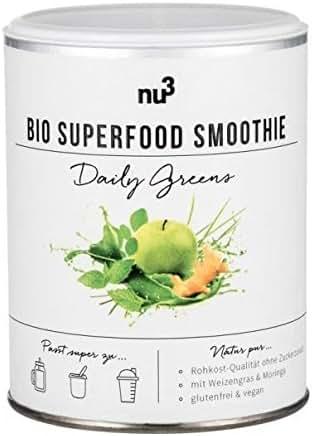 nu3 Smoothie Superfood Bio Daily Greens sans Gluten 100 g