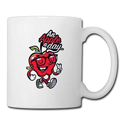 Cermaic Red Apple Design 11oz Coffee Mug Gift Tea Mugs Red Apple Design