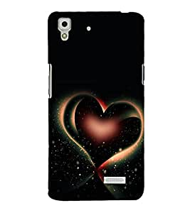 A2ZXSERIES Love Heart Starry Back Case Cover for Oppo R7