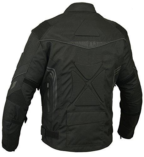 Rücken gepolstert Motorrad Jacke Wasserdicht Atmungsaktiv mit Protektoren - XL - 2