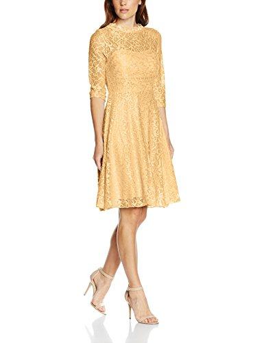 Intimuse Damen, Cocktail Kleid mit Spitzendetails, Elfenbein (Pfirsichfarben 052), 44