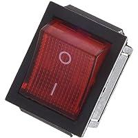 TOOGOO(R) Luz roja iluminada 4 Pines DPST ON/OFF Interruptor del balancin de broche en barco 16A 20A 250V AC