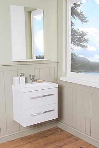 Contemporary Wall Hung Bathroom Furniture 600mm Vanity Unit & Basin