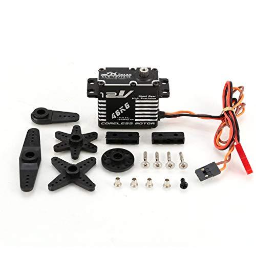 JX CLS-12V7346 Servosterzo per servosterzo con servosterzo digitale in metallo 46KG con tensione di coppia elevata 12V HV per auto robotica drone R