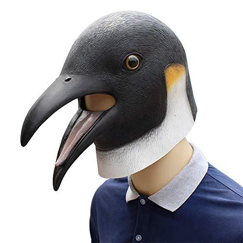 Männlich Kostüm Promi - JACKII Pinguin-Latex-Maske passend für Maskerade-Parteien, Kostüm-Parteien, Karneval, Weihnachten, Ostern, Halloween