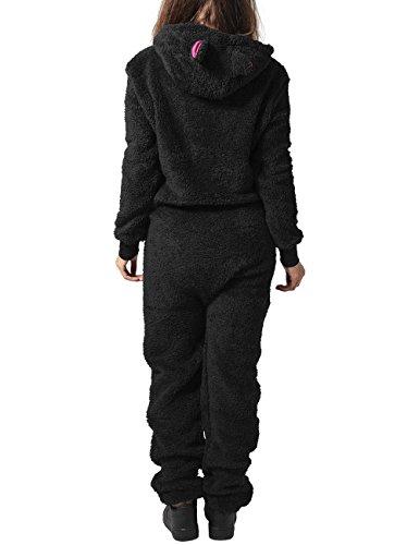 Urban Classics Damen Jumpsuits Ladies Teddy, Mehrfarbig (blk/FUC 23), X-Small (Herstellergröße: XS/S) - 2
