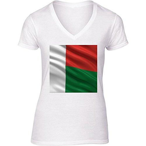 t-shirt-pour-femme-blanc-col-v-taille-s-drapeau-de-madagascar-by-carsten-reisinger