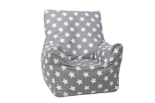 "Knorrtoys 68111 - Kindersitzsack Junior - ""Grey white stars\"""