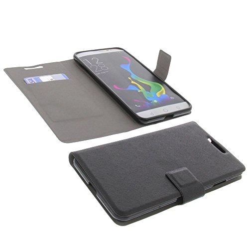 foto-kontor Tasche für coolpad Modena Book Style Ultra-dünn Schutz Hülle Buch Schwarz