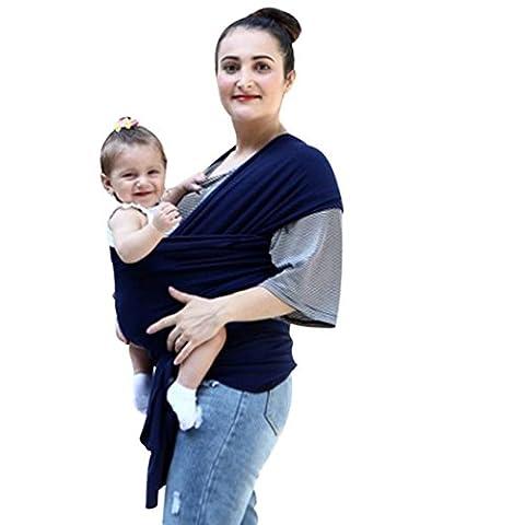 irina Echarpe de Portage des Bébés, irina Echarpe Multifonctionnel pour les Bébés-Matériau respirant et doux qui le rend frais et confortable (Taille unique, Bleu
