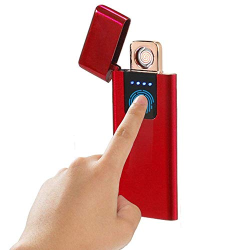 ARCLAND Mechero eléctrico con Sensor de Huella Dactilar, Recargable con USB, Resistente...