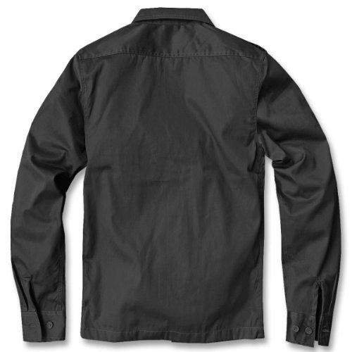 Chemise manches longues style uS, pour homme de la marque brandit b-4102 Noir - Noir