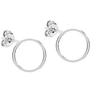 MYA art Damen Premium Ohrstecker 925 Silber mit Kreis