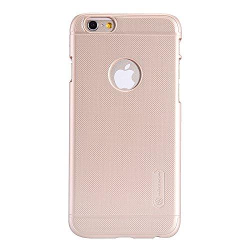 Nillkin Frosted Shield - Rückwertiges starres Schongehäuse , rutschfest + Kunststoff-Bildschirmschoner für iPhone 6 / 6s - Schwarz goldfarben