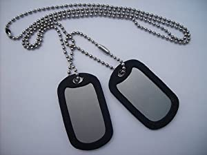 MILITARY DOG TAGS - plain by Army Dog Tags