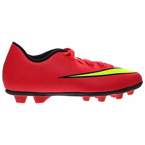 Nike Mercurial Jr Unisex Vortex Ii Fg (bambino / piccolo / grande) Hyper Punch / nero / volt / metal Corallo giallo